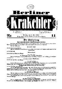 Berliner Krakehler. N[umme]r 11.